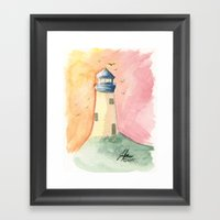 Lighthouse Impressions I… Framed Art Print