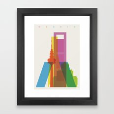 Shapes of Madrid. Accurate to scale. Framed Art Print