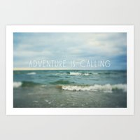 Adventure Is Calling - W… Art Print
