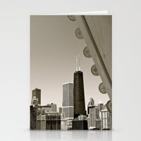 Stark Chicago in Black & White Stationery Cards
