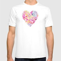 Soft Carnations Mens Fitted Tee White SMALL