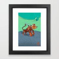 Astro Zodiac Force 03: Tiger Framed Art Print