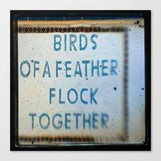 Let's Flock Canvas Print