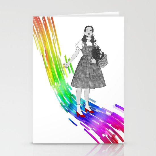 Somewhere over the rainbow Stationery Card