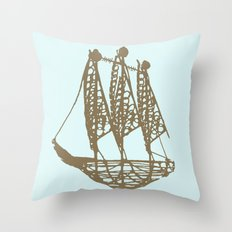 Cape Glass (brown) Throw Pillow