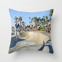 Venice Skate Park Throw Pillow