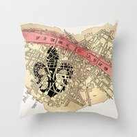 Fiume Arno Throw Pillow