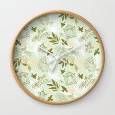 Whimsical Birds Wall Clock