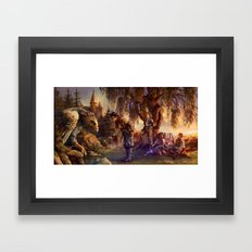 Back at Hogwarts Framed Art Print