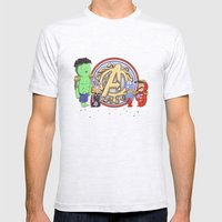 Sgt. Avengers Mens Fitted Tee Ash Grey SMALL