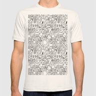 Infinity Robots Black & … Mens Fitted Tee Natural SMALL