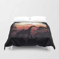 From City To Jungle Duvet Cover