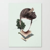 Woman Collage Canvas Print