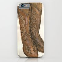 iPhone & iPod Case featuring Watercolor Cowboy Boots by Lori Petersen