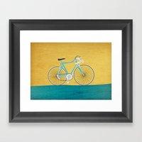 Enjoy The Ride Bike Framed Art Print
