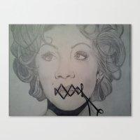 Wired Shut Canvas Print