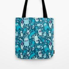 Monster Pattern Tote Bag