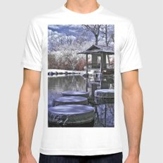 Japanese Garden SMALL White Mens Fitted Tee