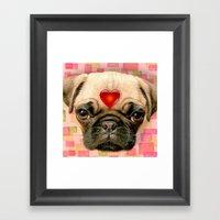 Puggy Framed Art Print