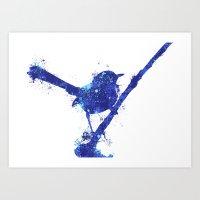 Fairy Wren Watercolour S… Art Print
