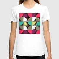 Quater circle shape pattern Womens Fitted Tee White SMALL