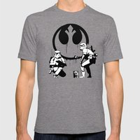 Banksy Troopers Mens Fitted Tee Tri-Grey SMALL