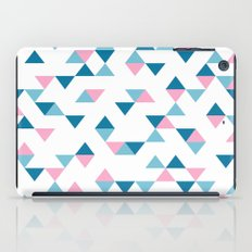 Triangles Blue and Pink iPad Case