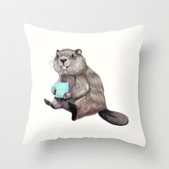 Dam Fine Coffee Throw Pillow