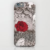 iPhone & iPod Case featuring rose and grave by Bake