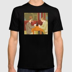 Card players by Cezanne Mens Fitted Tee Black SMALL