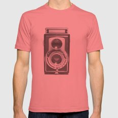 Vintage Camera Mens Fitted Tee Pomegranate SMALL