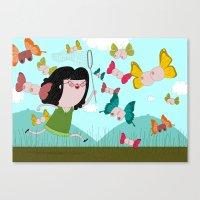 Fields Of Joy Canvas Print