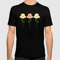 Kawaii Rose Friends  Mens Fitted Tee Black SMALL