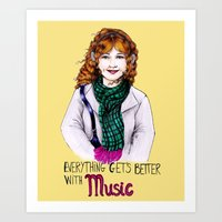 Everything get's better with MUSIC Art Print