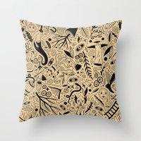 Curious Collection No. 9 Throw Pillow