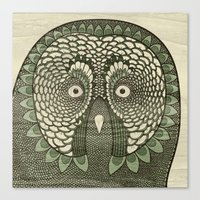 Owlustrations 3 Canvas Print
