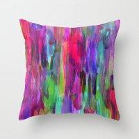 Neon Wash #2 Throw Pillow