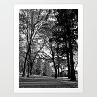 Art Print featuring City park trail by Vorona Photography