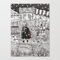After Hours at the Christmas Market Canvas Print