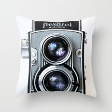 Flexaret Vinatge Camera Throw Pillow
