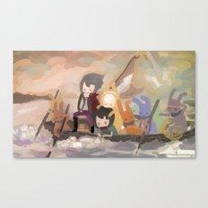 Cutting ties Canvas Print
