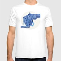 Lost City Mens Fitted Tee White SMALL