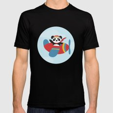 Panda says Thanks! Mens Fitted Tee Black SMALL