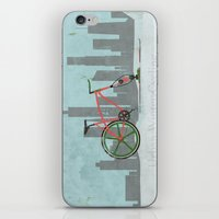 Urban Winter Cycling iPhone & iPod Skin