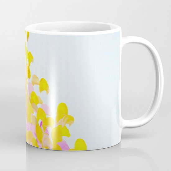 CREATION IN COLOR - Vibrant Bright Bold Colorful Abstract Painting Cheerful Fun Ocean Autumn Waves Mug