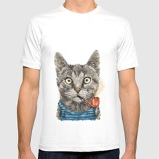 Sailor Cat IX Mens Fitted Tee SMALL White