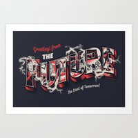 Greetings From The Futur… Art Print