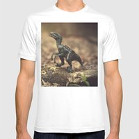 Raptor Mens Fitted Tee White SMALL