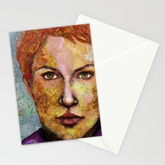 Map self portrait Stationery Cards