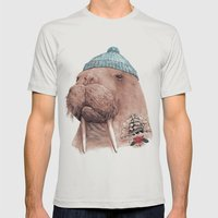 Tattooed Walrus Mens Fitted Tee Silver SMALL